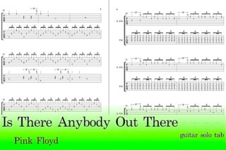 Is There Anybody Out There Free Guitar Tab Pdf