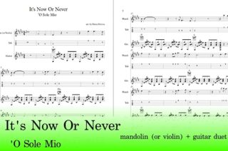 It's Now Or Never Free Guitar Mandolin Tab