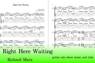 Right Here Waiting Guitar Tab
