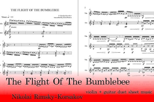 The Flight of The Bumblebee Guitar and Violin Sheet Music