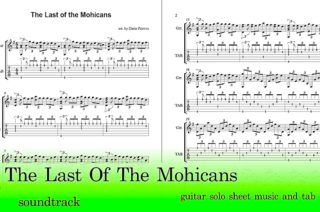 The Last of the Mohicans Guitar Tab