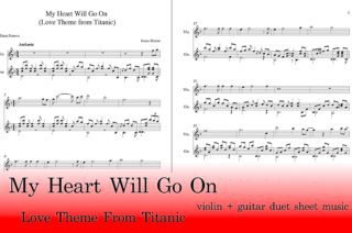 My Heart Will Go On Guitar and Violin Sheet Music