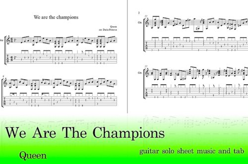 We Are The Champions Guitar Tab