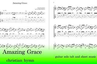 amazing grace guitar tab and sheet music