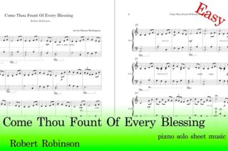 Come Thou Fount Of Every Blessing Piano Sheet Music Easy