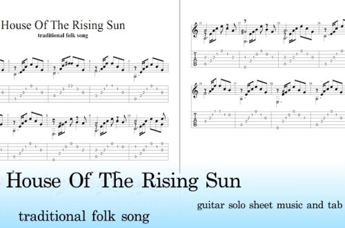 The House Of The Rising Sun Easy Guitar Tab Pdf