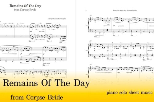 Remains Of The Day Piano Sheet Music Pdf