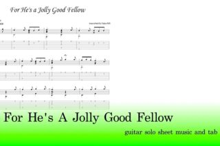 For He's A Jolly Good Fellow Guitar Tab Pdf Free